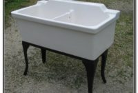 Vintage Porcelain Double Kitchen Sink