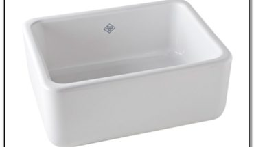 White Fireclay Apron Front Sink