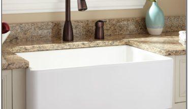 White Fireclay Apron Sink