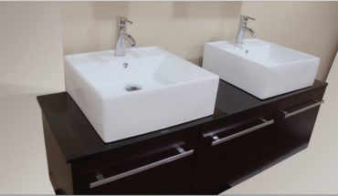 White Porcelain Square Vessel Sink