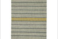 Yellow Striped Area Rug