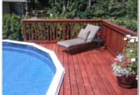 Above Ground Pool Deck Design Plans