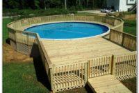 Above Ground Pool Deck Ideas Plans
