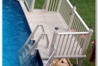 Above Ground Pool Deck Ladder Steps