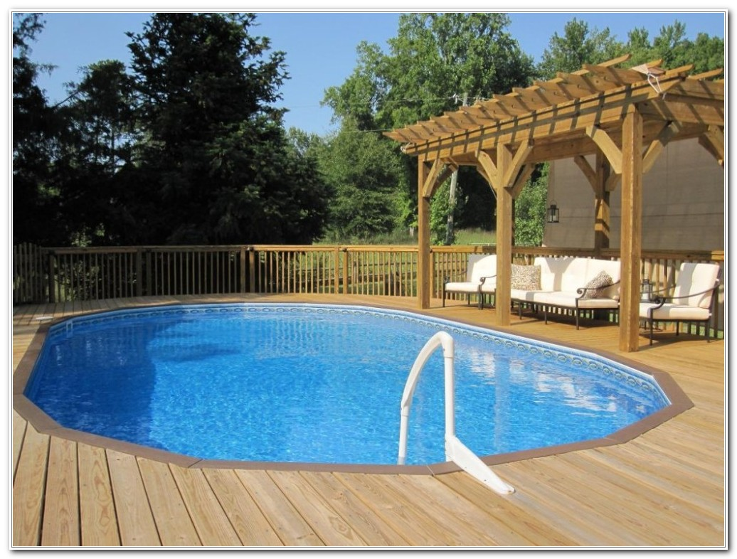 Above Ground Pool Decking Ideas