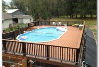 Above Ground Pool Decks Designs