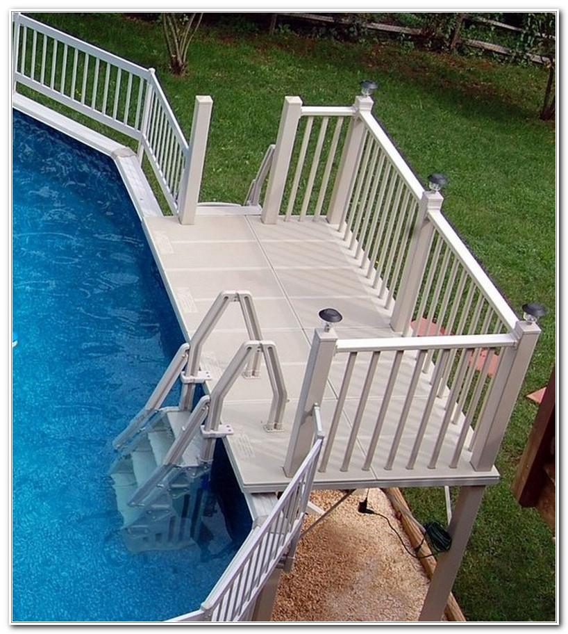 Above Ground Pool Ladder Deck Attachment