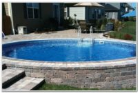 Above Ground Pool With Deck And Fence