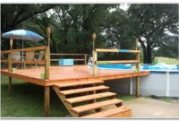 Above Ground Pool With Deck Cover