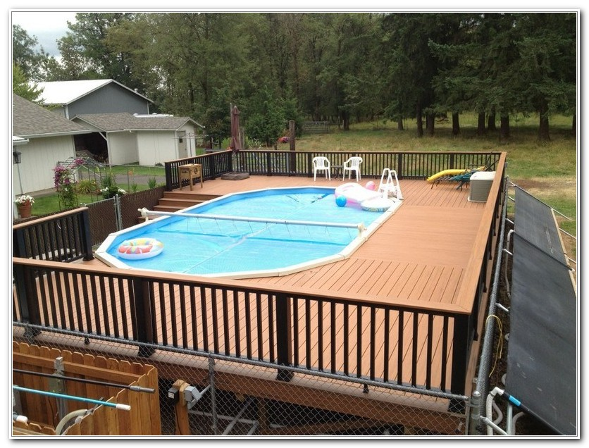 Above Ground Pool With Deck Kit
