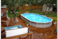 Above Ground Pool With Deck Surround