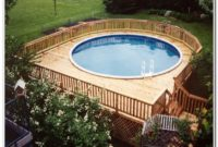 Above Ground Pool Wood Deck Ideas