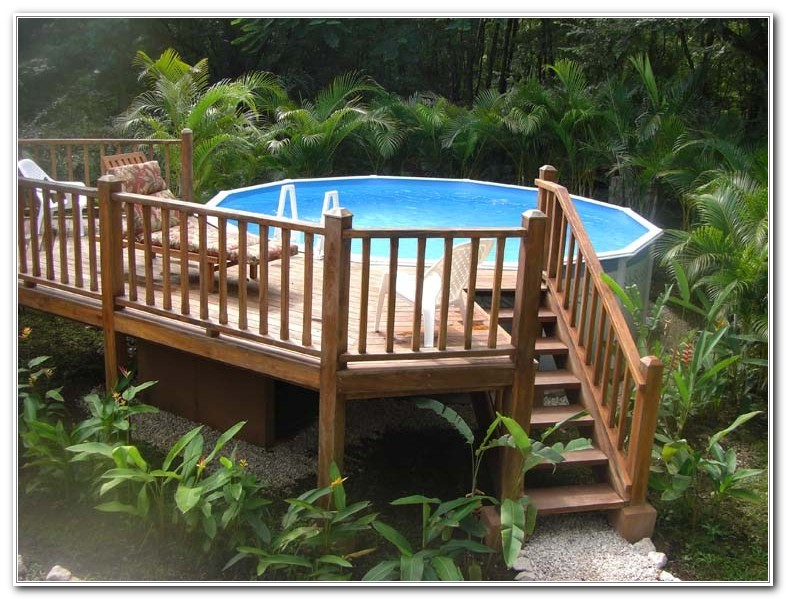 Above Ground Swimming Pool Deck Designs Decks Home