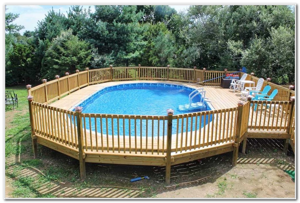 Above Ground Swimming Pool With Deck - Decks : Home ...