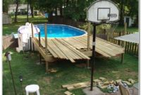 Deck Above Ground Pool Plans