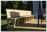Deck Bench Seat Plans
