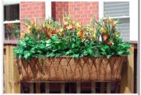 Deck Railing Flower Box Ideas