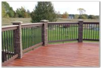 Faux Stone Deck Post Covers