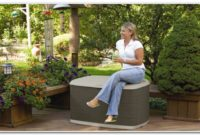 Garden Storage Deck Box With Seat