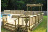 Ground Pool Deck Plans Free