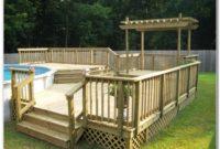 Ground Pool Deck Plans Free