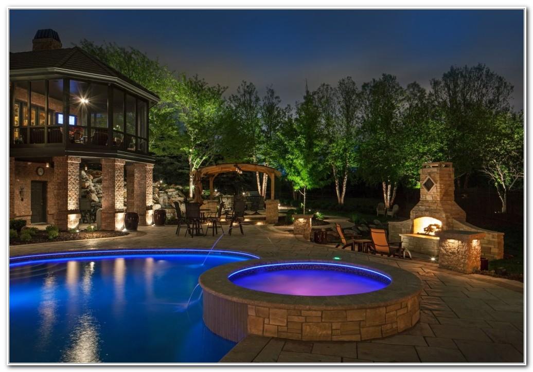 Ideas For Pool Deck Lighting Decks Home Decorating