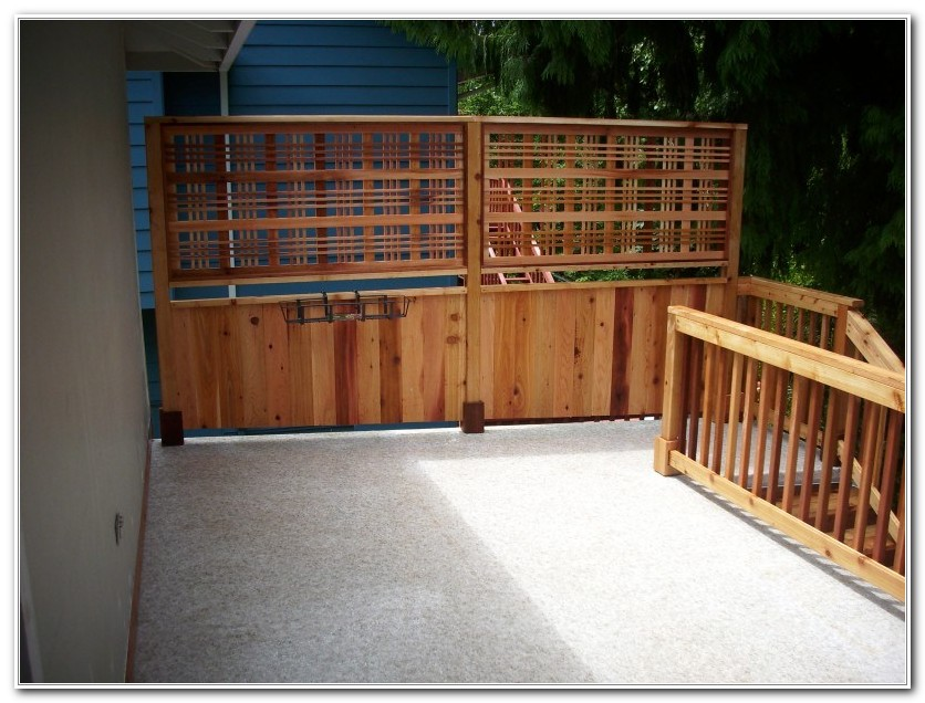 Privacy Screen For Deck Railing Decks Home Decorating Ideas