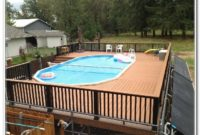 Round Above Ground Pool Deck Kits