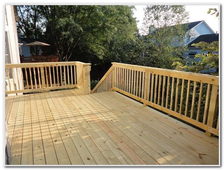 Simple Wood Deck Railing Ideas
