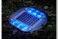Solar Powered Decking Lights Blue
