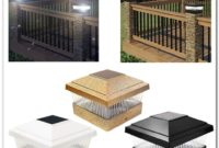 Solar Powered Fence Post Cap Lights Deck