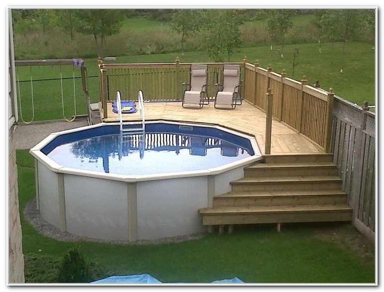 Swimming Pool Deck Ideas Above Ground - Decks : Home ...