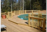 Swimming Pool Decks Above Ground Plans