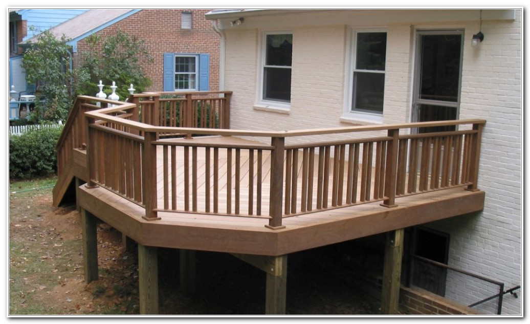 Wood Deck Railing Plans