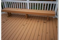 Wooden Deck Railing Bench Plans