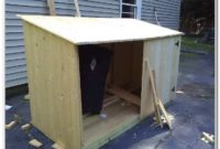 Wooden Outdoor Storage Box Plans