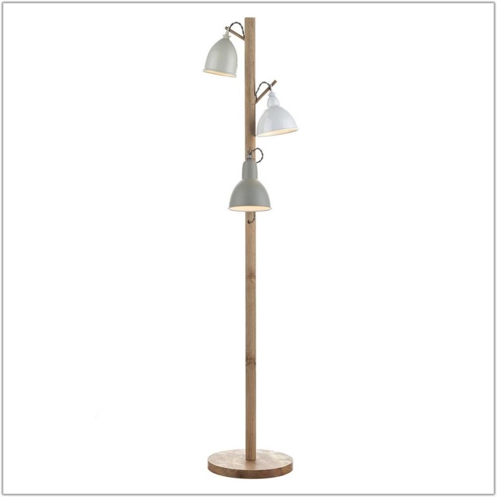 3 Light Floor Lamp White