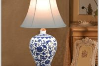 Antique Blue And White Table Lamps