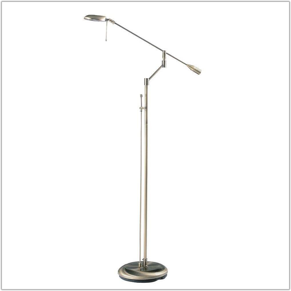 Antique Brass Halogen Floor Lamp