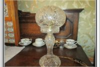 Antique Crystal Table Lamps Ebay