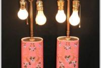 Antique Porcelain Floral Table Lamps