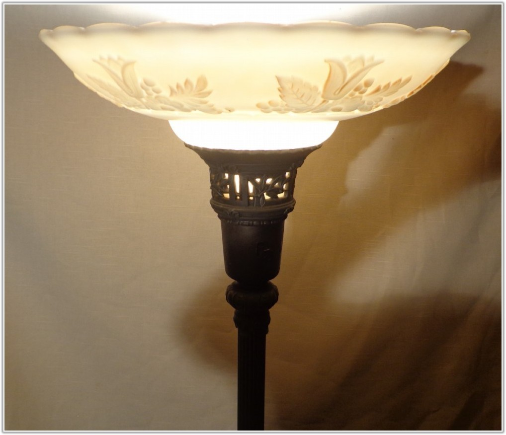 Antique Torchiere Floor Lamp Replacement Glass Shade