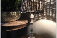 Antique White Wood Lamp Base