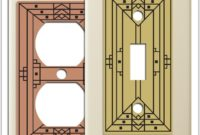 Arts And Crafts Style Light Switch Plates