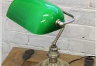 Bankers Lamp With Green Shade