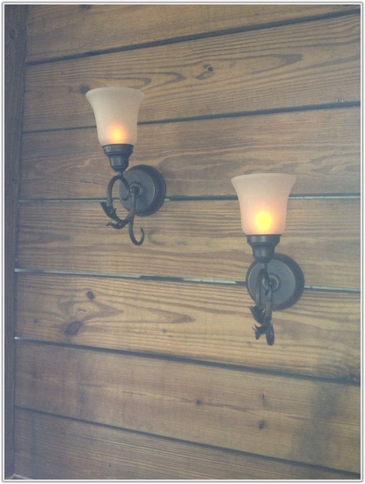 Battery Operated Wall Sconces Home Depot Lamps Home