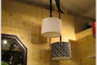 Black Drum Lamp Shades With Gold Lining