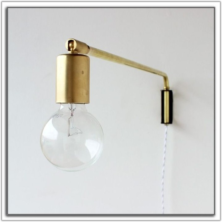 Black Swing Arm Wall Lamp Plug In