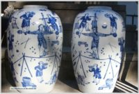 Blue And White Chinese Lamp Bases