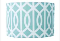 Blue And White Lamp Shade